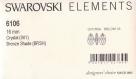 6106 16 bs *** 2 pendentifs swarovski goutte 16mm crystal bronze shade