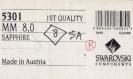 T8 5301 sa *** 8 toupies cristal swarovski réf. 5301 8mm sapphire