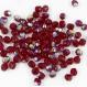 F6 sx *** 30 perles à facettes verre de bohême 6mm siam ab