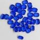 C34*** 20 strass anciens (années 60) fond conique octogone 8x6,5mm sapphire