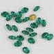 C7 *** 20 strass anciens ovales 7x5mm (années 60) vert émeraude