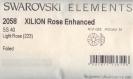 2058 ss40 lr *** 6 gros strass swarovski fond plat 8,5mm light rose f