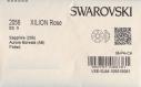 2058 ss9 sax *** 50 strass swarovski fond plat 2,6mm sapphire ab ff