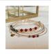 Création semainier en gold filled agathe rouge et hématite noires