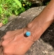 Bracelet en pierres semi-précieuses : larimar