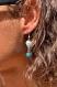 Boucles d'oreilles en pierres semi-précieuses : larimar et howlite