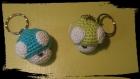 Porte clef / champignon / crochet