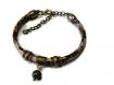 Bracelet cuir façon serpent