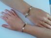 2 bracelets bronze et amazonite special mere/fille