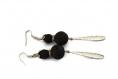 Boucles d'oreilles perles de lave