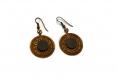 Boucles d'oreilles bronze et ardoise