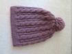 Bonnet laine torsades