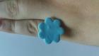 Bague enfant réglable fleur bleu