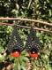 Bijoux macramé, boucles d'oreilles, goutte d'eau panacoco, fil ciré, graines naturelles et tropicales.