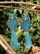 Bijoux macramé, boucles d'oreilles, hiboux, fil ciré, graines naturelles et tropicales.