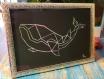 Baleine origami pastel encadré