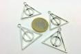 Breloque relique de la mort - harry potter - 30 x 33 mm- métal argenté