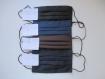 Masques de protections hommes, 2 épaisseurs de tissus en coton, 3 plis, lavable, réutilisable, réversible, fait mains
