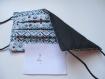 Masques de protection tissu pour femmes, adolescentes , 3 plis, 2 épaisseurs de tissus en coton, 1 côté uni et 1 côté avec motif, lavable, réutilisable, fait mains