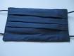 Lot de 3 masques de protections pour hommes, 3 plis, 2 épaisseurs de tissus en coton, lavable, réutilisable, réversible, fait mains