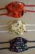Lot de 3 masques enfants fabriqués à nantes, selon le modèle afnor - taille unique, liens réglables - coloris assortis