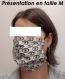 Lot de 3 masques nantais en tissu , lavables , confectionnés selon le modèle afnor - taille m