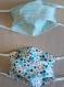 Lot de 2 masques de protection lavables , confectionnés selon le modèle afnor - taille unique avec liens réglables