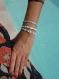 Bracelet miyuki tila bleu blanc et doré manureva