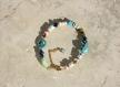 Bracelet de cheville tendance peace and love multicolore