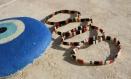 Bracelet miyuki tila noir terra cotta doré atlantis