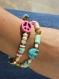 Bracelet tendance peace and love multicolore