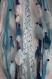 Attrape-rêve bois flotté, origami bohème bleu blanc argenté dream catcher