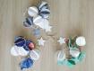 Guirlande de pompons en papier, disponible en 3 couleurs au choix