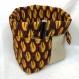 Grande panière de rangement en wax réversible, avec pochettes intérieures.