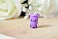 Boba bubble tea violet
