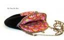 Sac tissus fermoir métal,sac motif dessin chat,sac femme coloré,fait main