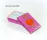 Boite coffret porcelaine coloré,peinte main,forme rectangle,boite artisanale fait main