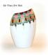 Vase coloré original porcelaine,peint à la main,décoration bohème,vase fait main,artisanal