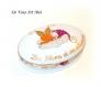 Cadeau bébé prénom personnalisé,boite porcelaine colorée originale,peinte main