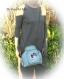 Sac tissus minaudière fermoir métallique,réalisé à la main,sac femme original bandoulière chaine