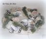 Couronne noël lumineuse,couronne porte noël ourson,fait main,artisanale,décoration suspension ornement noël