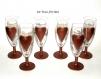 Verre flûtes coupes champagne,fait main,service de verre peint main,artisanal