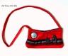 Sac femme bohème velours rouge,sac original bandoulière,fait main artisanal