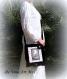Besace cabas femme noir,fait main,sac velours illustré bandoulière,artisanal,grand sac femme noir
