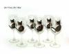 Verre à vin thème chat,service grands verres vin,peint main artisanal