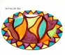 Grand plat ovale coloré,fait main,plat plateau de présentation,porcelaine peinte main,plat de service