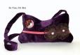 Besace velours bohème femme,sac pochette bandoulière,sac bohème violet créateur,réalisé à la main