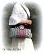 Grand sac tissu bohème coloré,sac tissus velours,fait main,sac artisanal illustré original