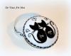 Boite ronde couple de chat,boite bijoux porcelaine,peinte à la main,cadeau amoureux mariage