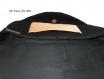 Besace femme velours noir,réalisé à la main,sac original illustré artisanal
